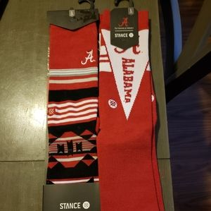 2 Pair NWT Stance Univ. Of Alabama socks